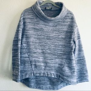 Anthropologie Gray Oversized Turtleneck Sweater
